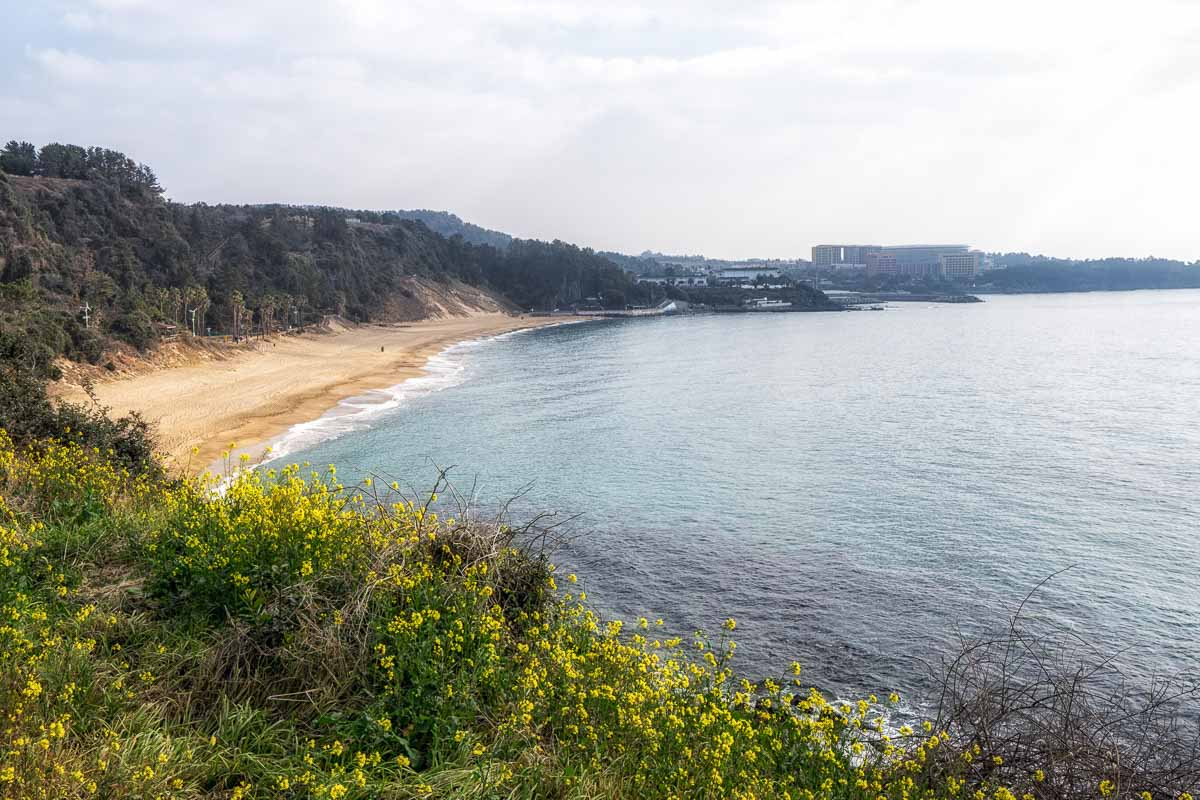 Jungmun Saekdal beach jeju island korea