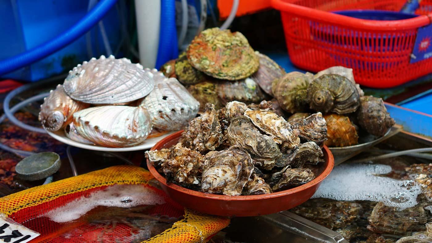 Korea-Busan-Seafood-at-market