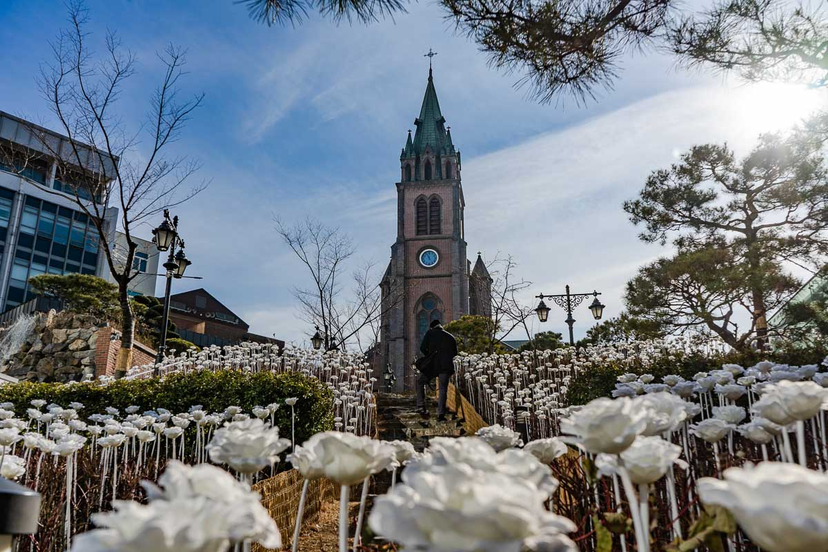 Myeongdong Cathedral Seoul South Korea