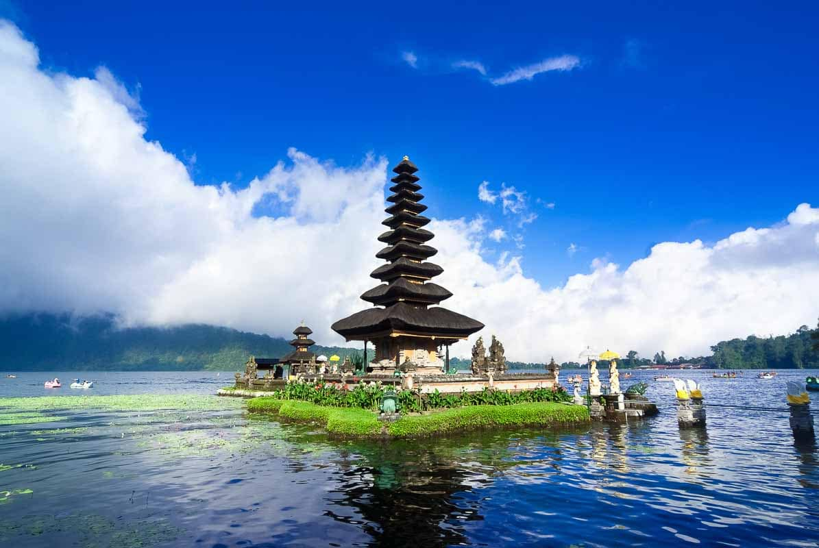 Pura Ulun Danu Bratan is a major water temple on Lake Bratan,