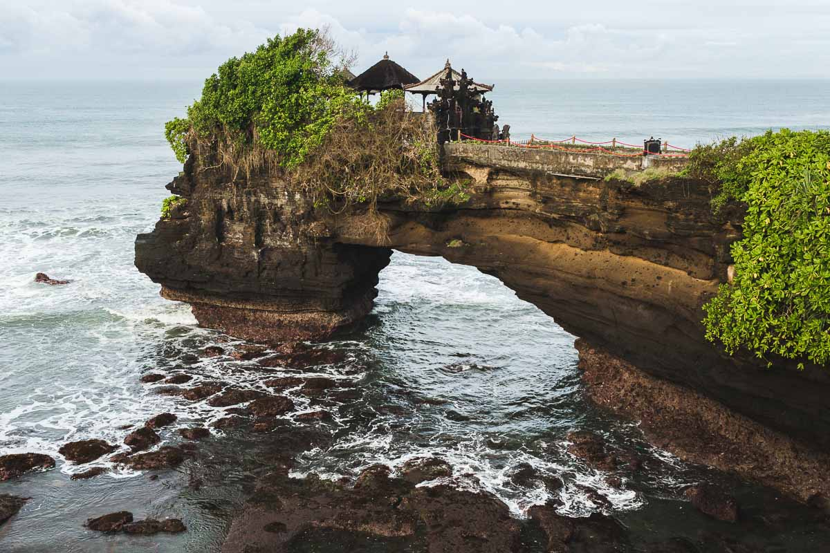Sacred Balinese temple Tanah Lot. Pura Batu Bolong