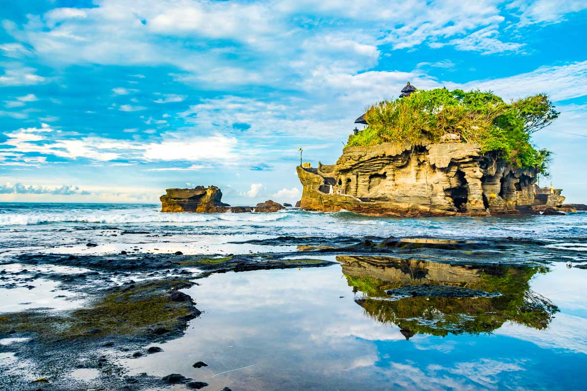 Tanah Lot Temple is a hindu Temple on the Island of Bali,<a class=