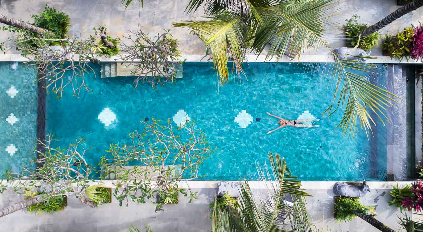 dwaraka boutique hotel swimming pool ubud bali
