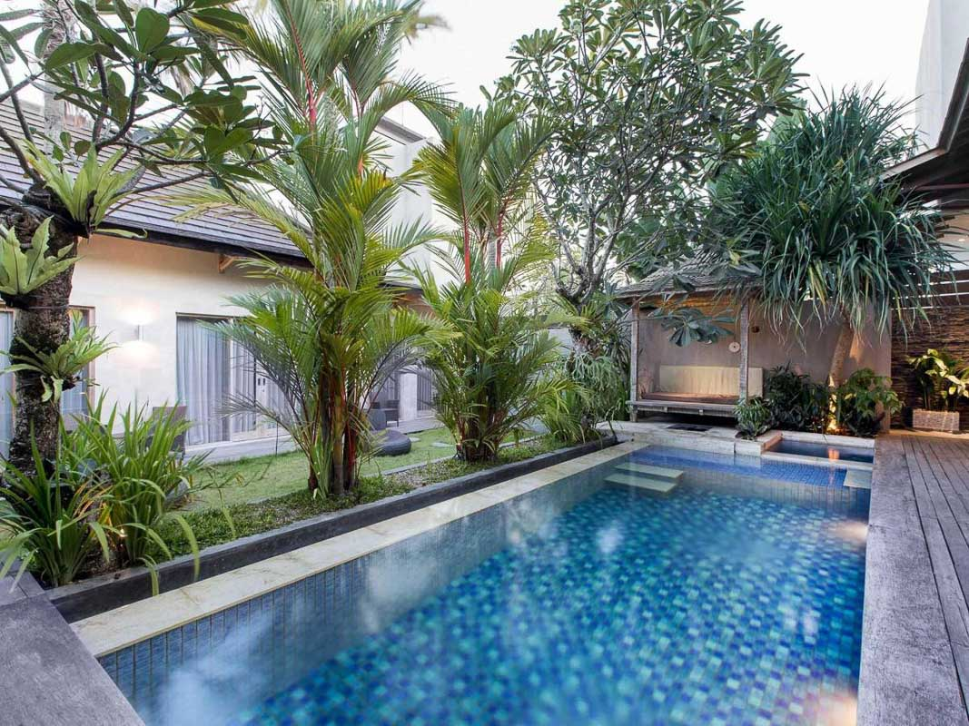 private swimming pool at exotica lodge canggu bali indonesia