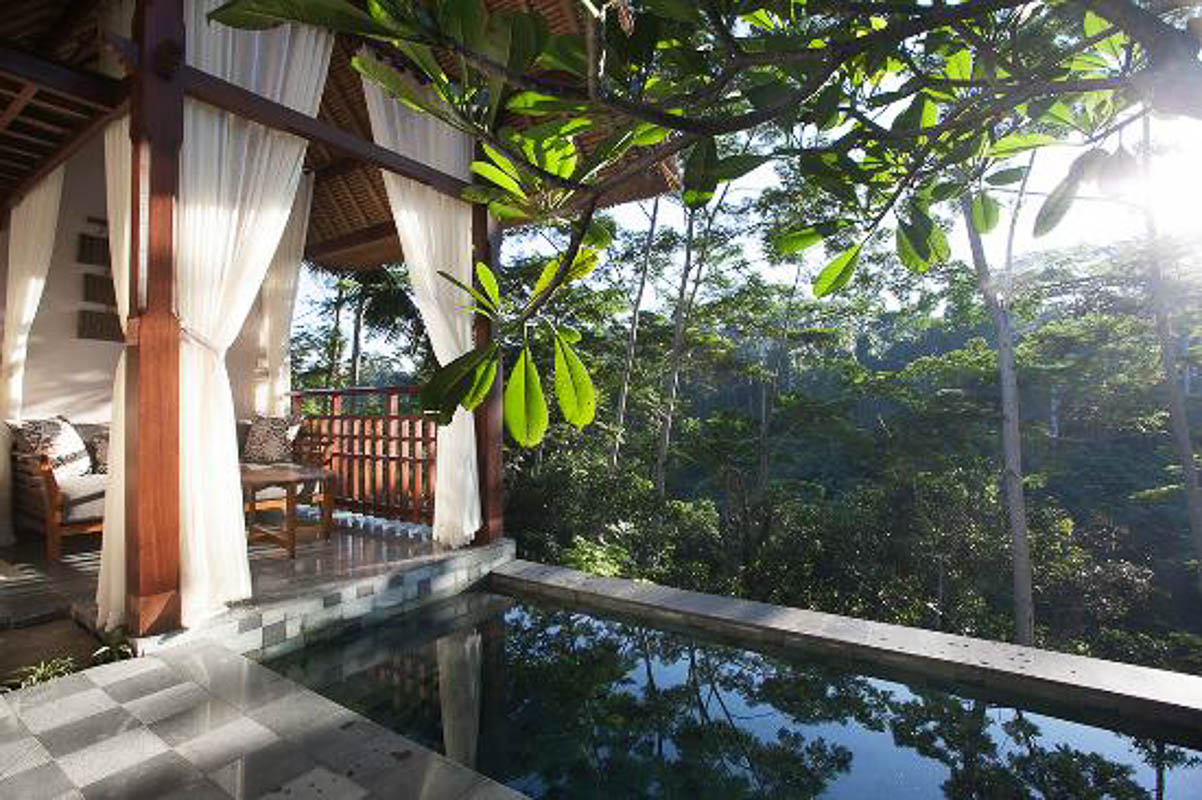 tejaprana view and pool ubud bali