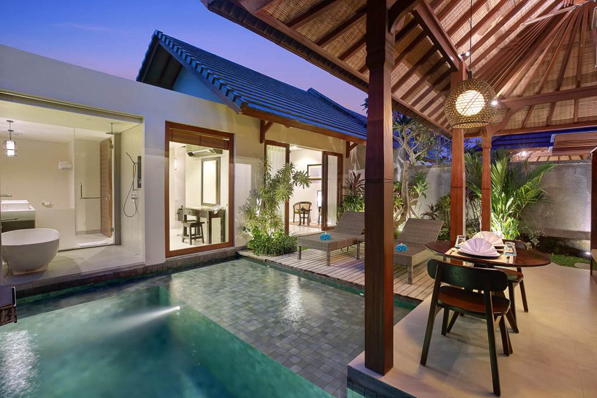 villa with private swimming pool at theanna resort bali indonesi