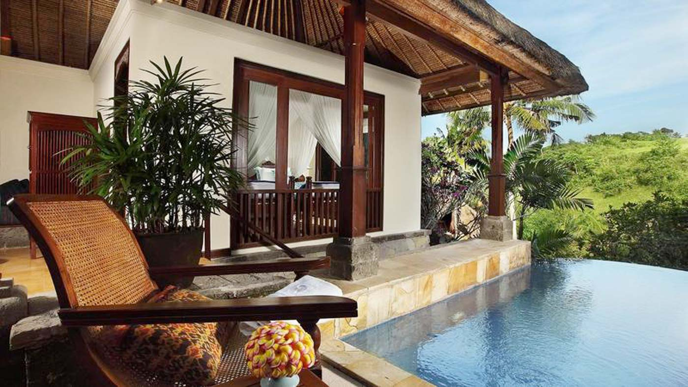 warwick hotel bali ubud swimming pool view