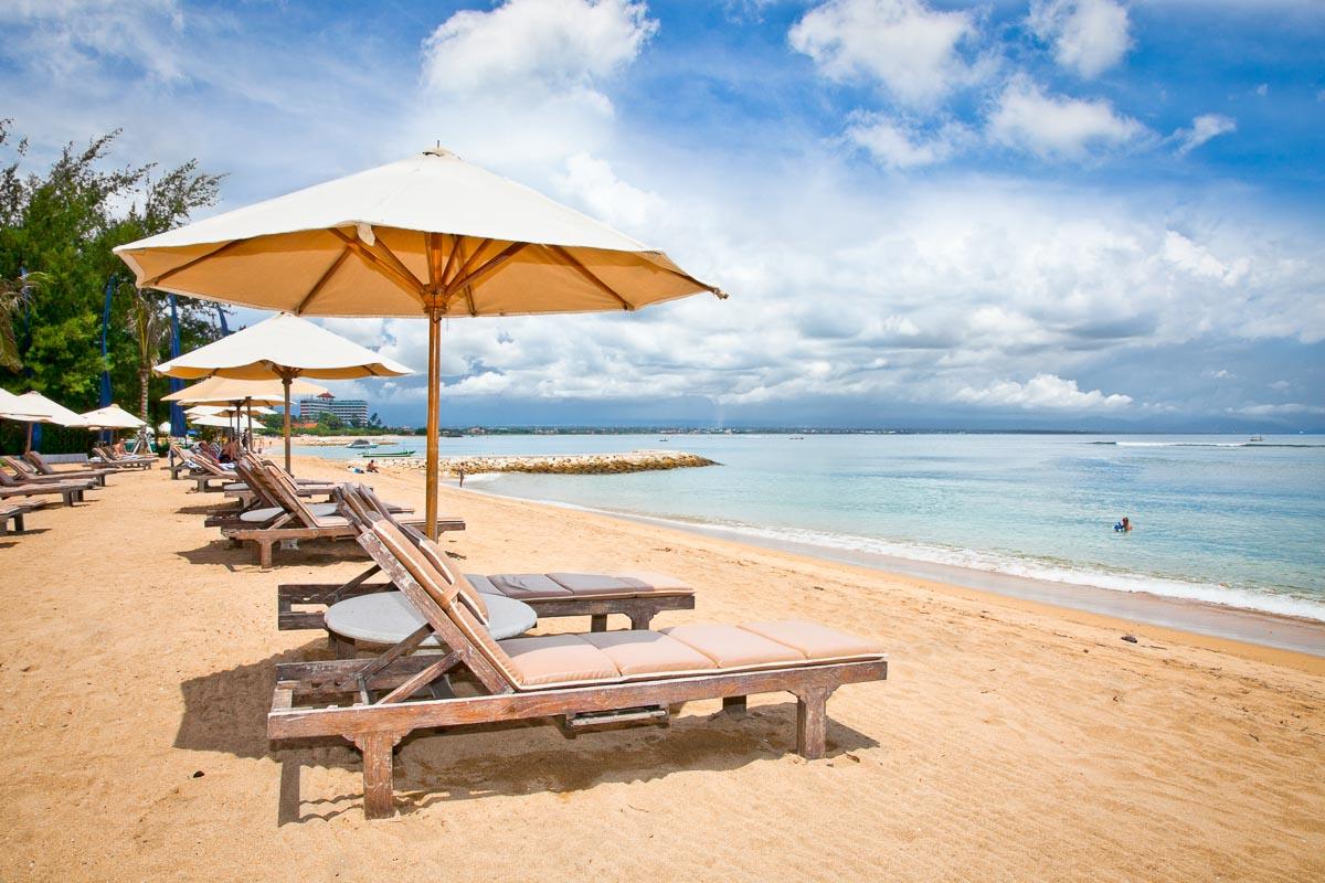 Beautiful Sanur beach on Bali