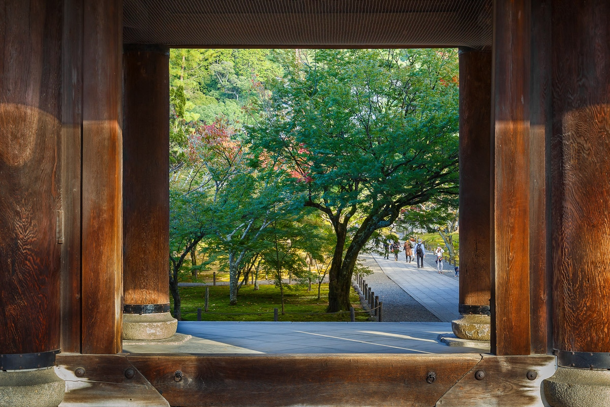 Kyoto, Japan - October 23 2014: Sanmon Gate at Nanzen-ji temple