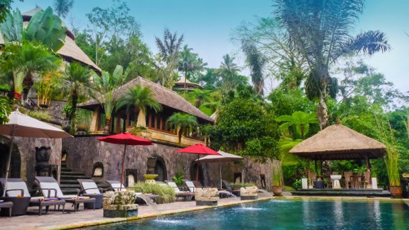 Bagus Jati Bali swimming pool area