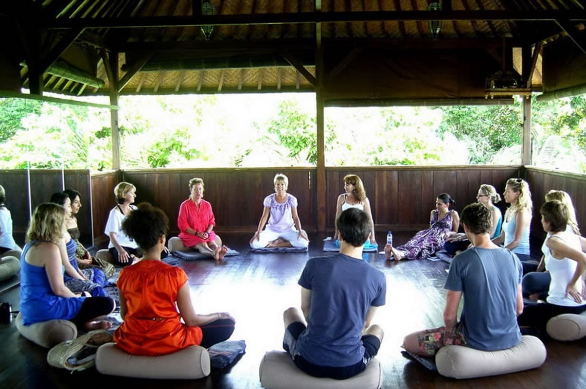 bali mountain retreat group session