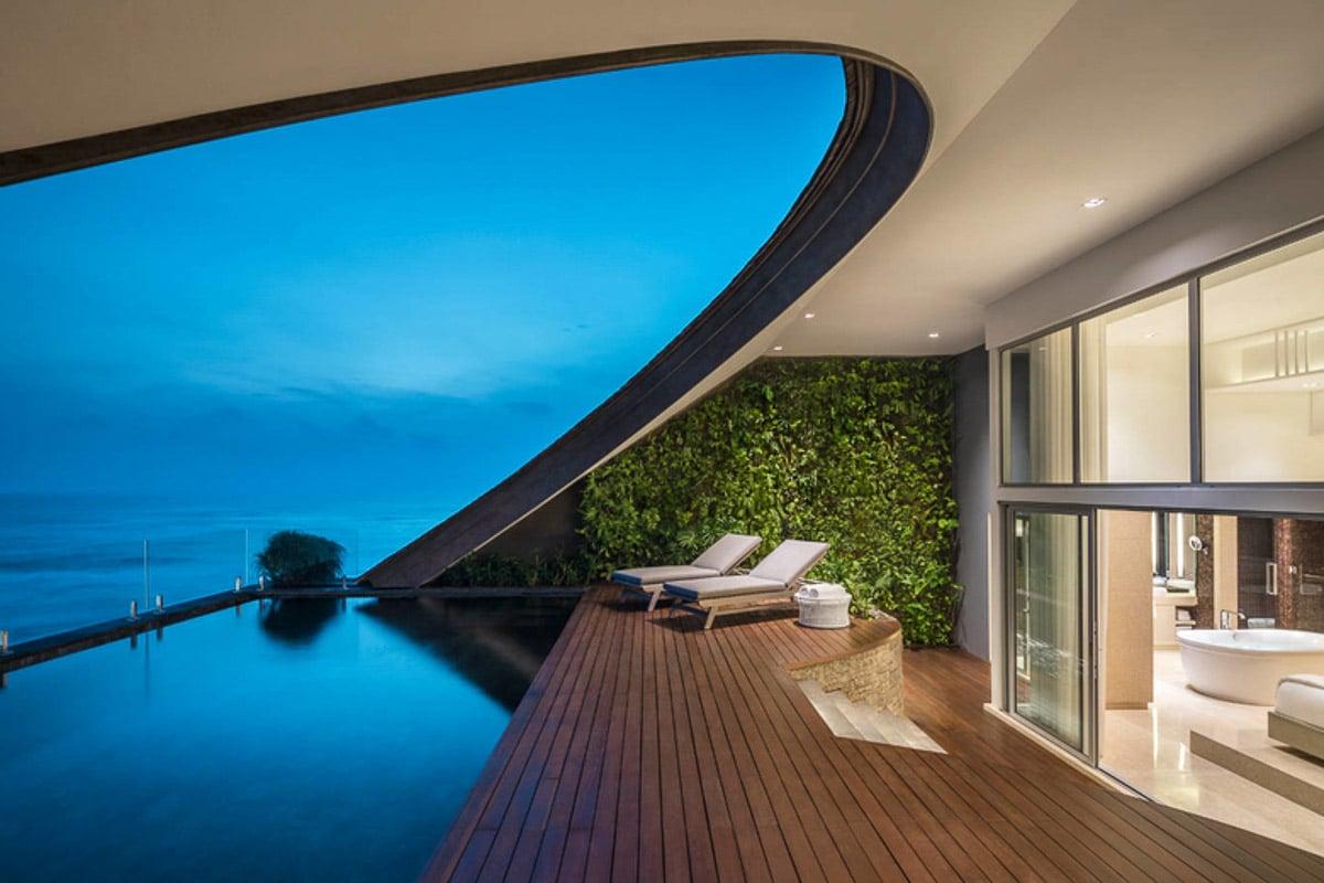 room with deck and pool at como canggu bali