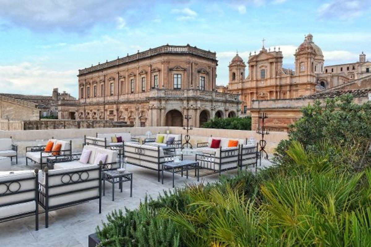 terrace at Gagliardi Hotel Noto