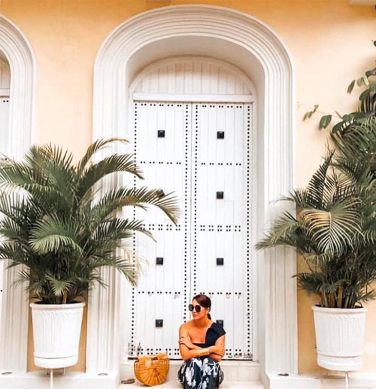Hotel Casa Lola Deluxe Gallery front door - one of the Cartagena boutique hotels