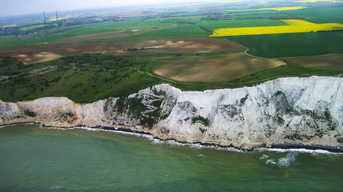 aerial views of dover