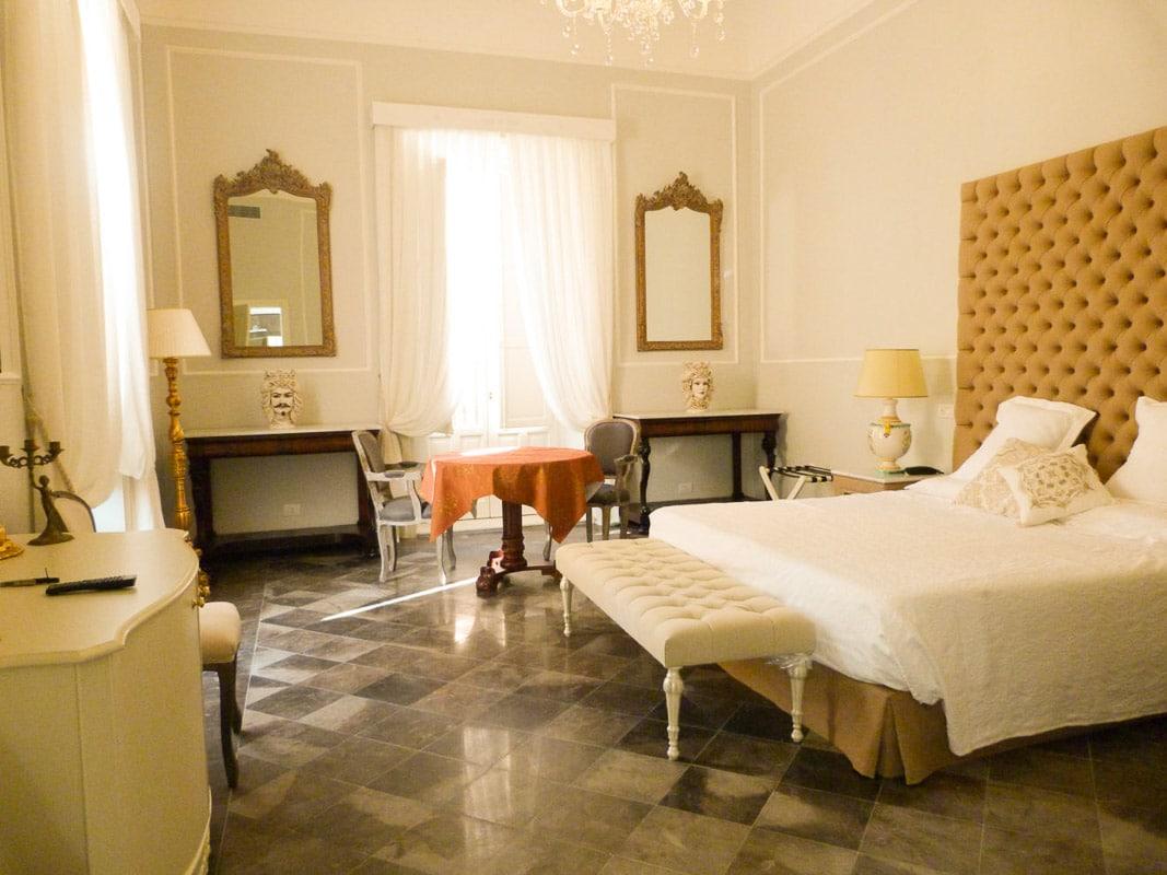 room at Gagliardi hotel Noto Sicily