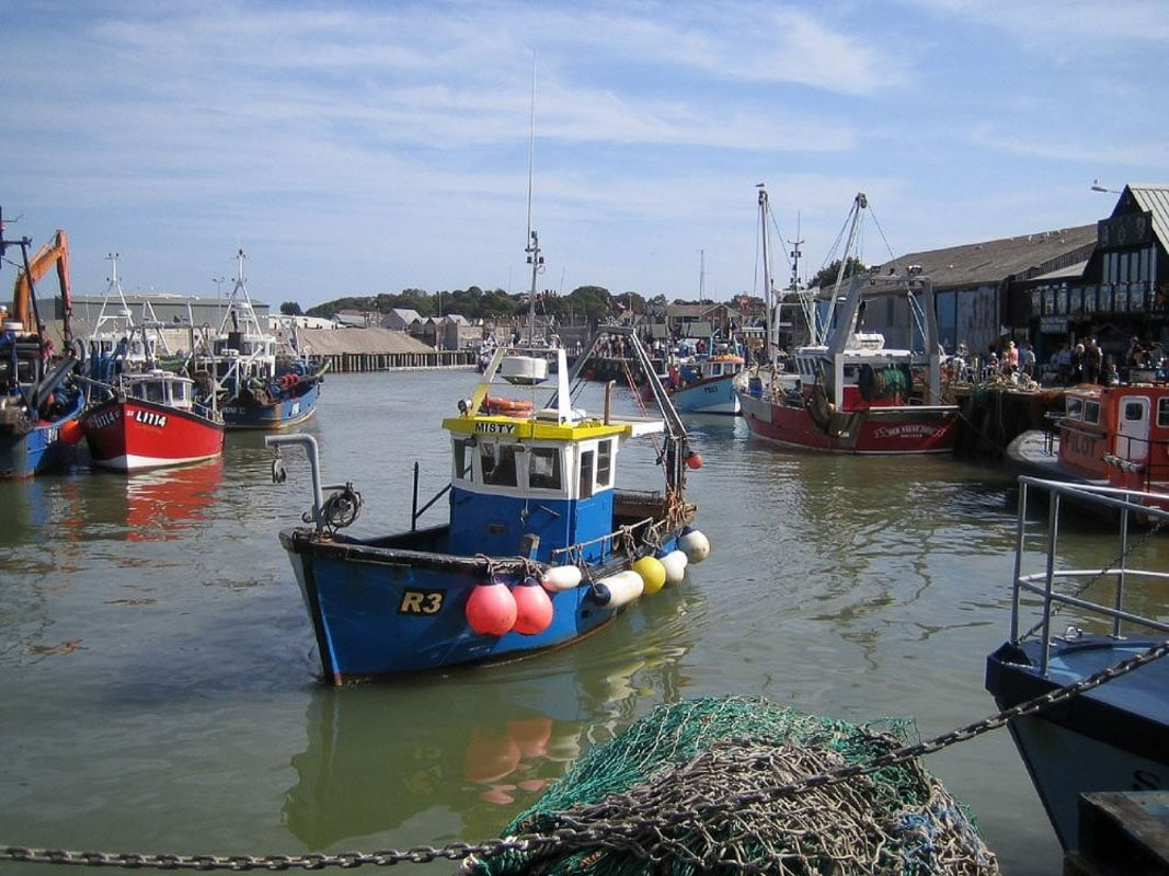 boats in harbour kent england