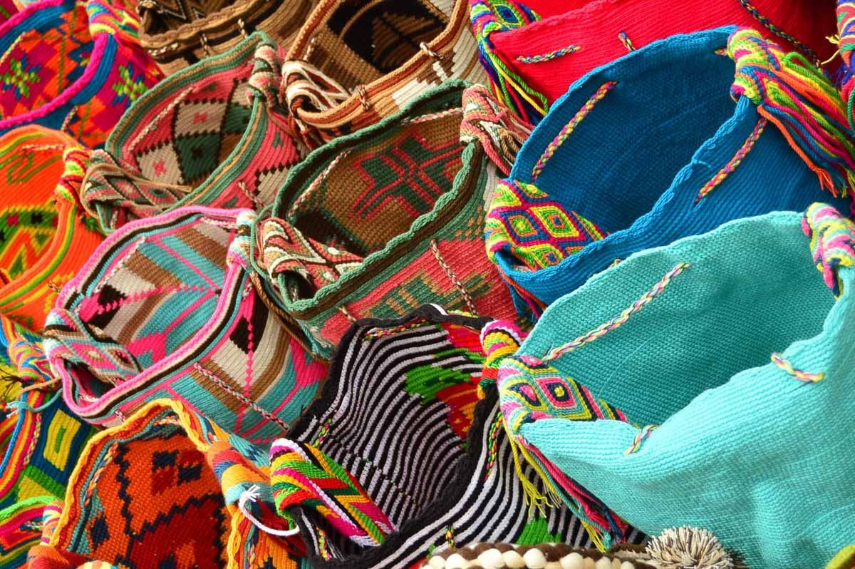 colourful bags in cartagena