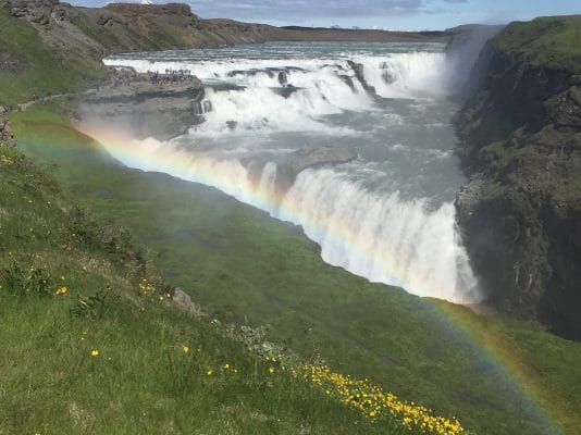 gulfoss iceland in summer