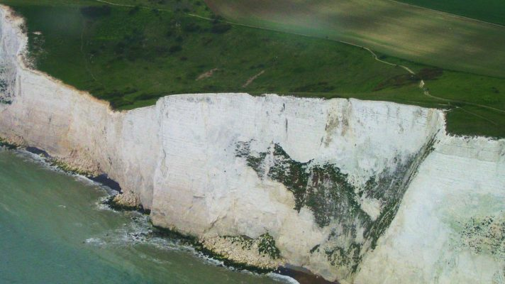 white cliffs of dover up close