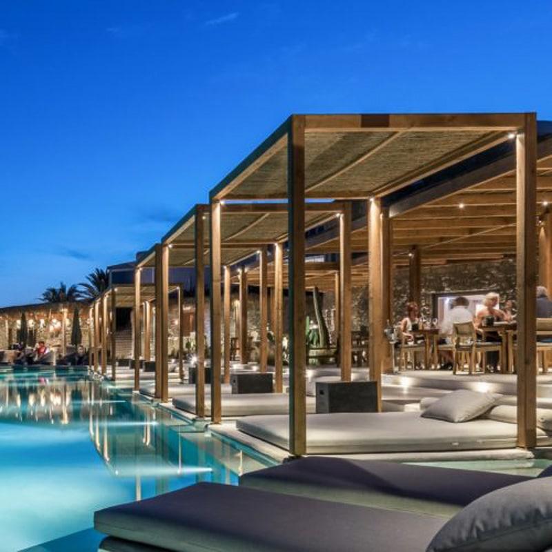 Rocabella Mykonos boutique hotel outdoor area