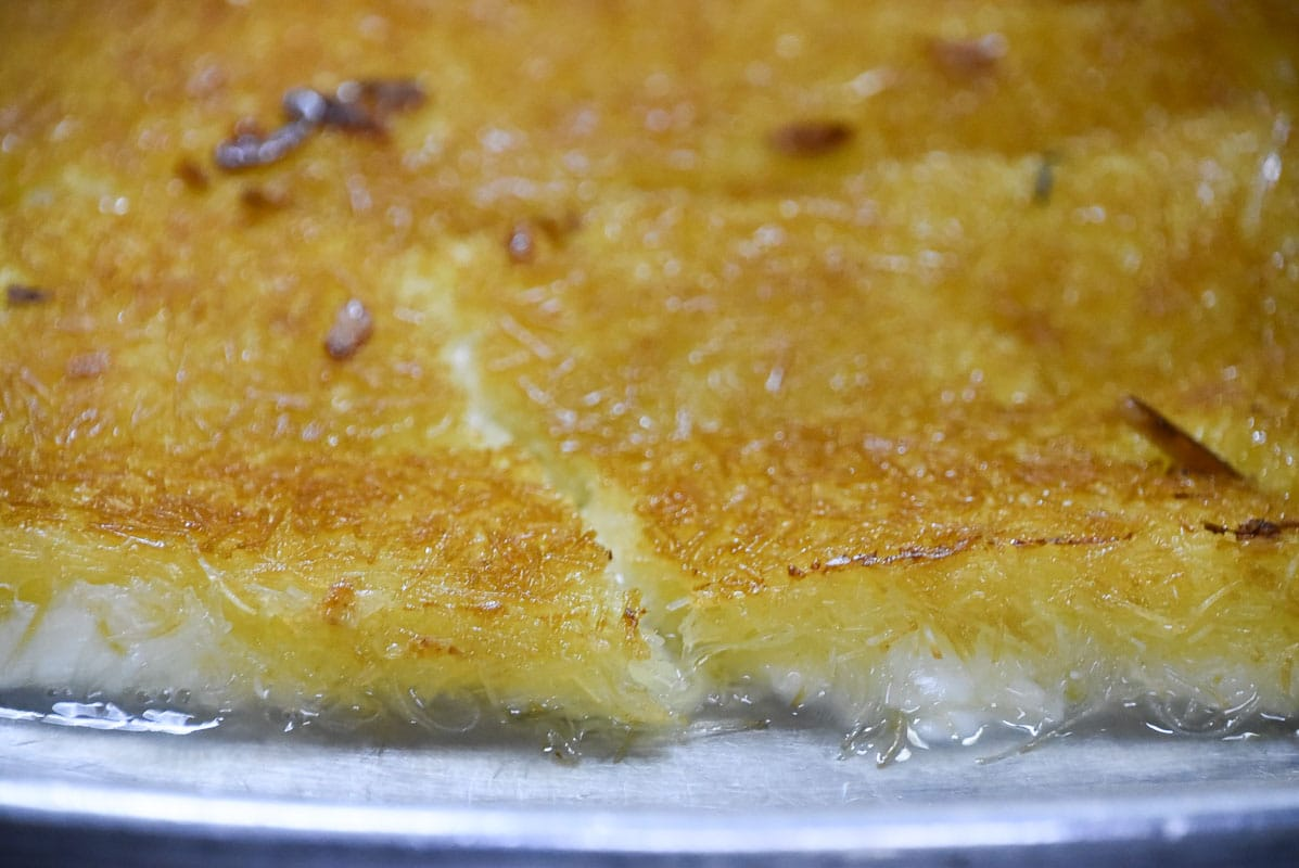 arabian style grilled cheese sweets up close