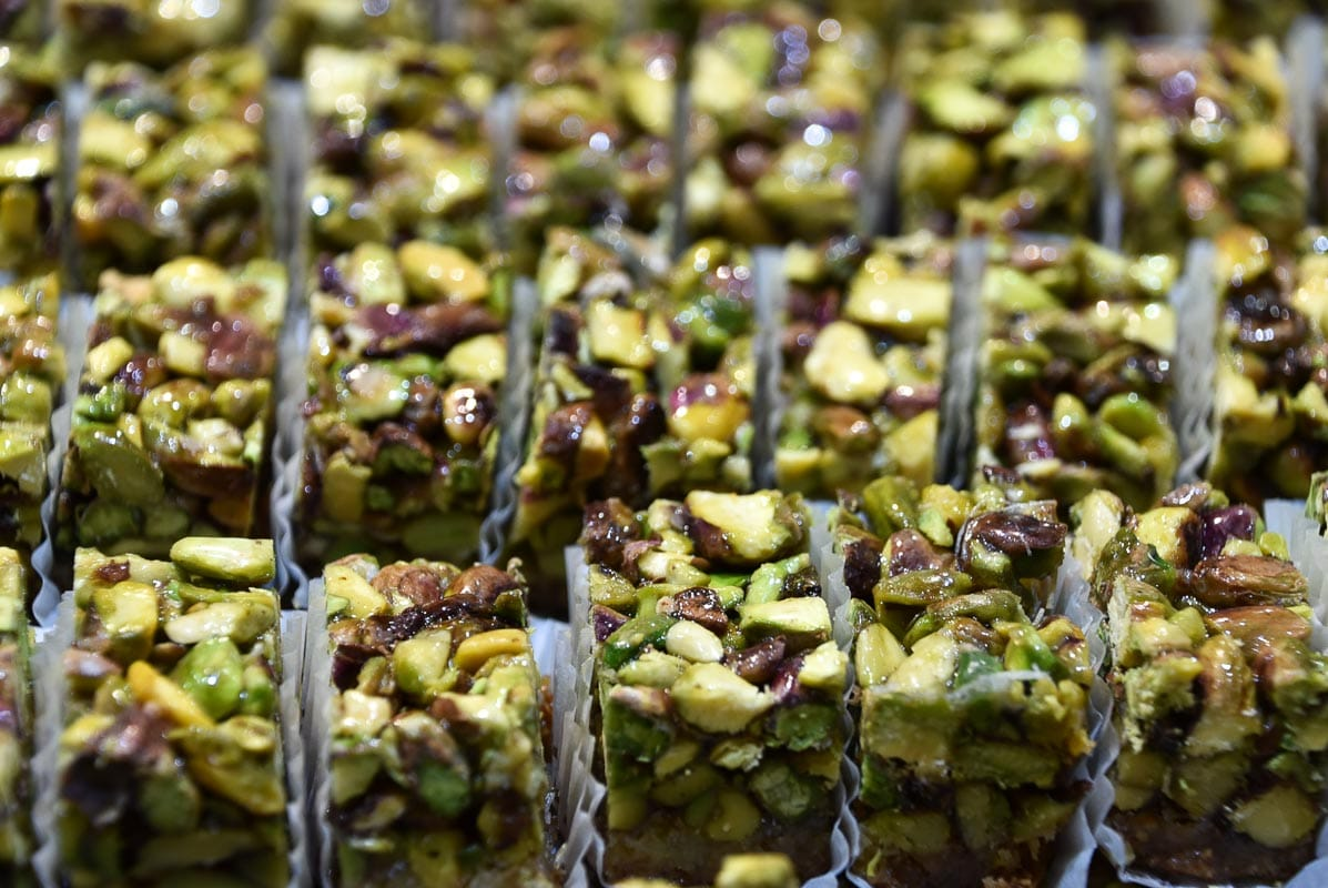 arabian style sweets with pistachios and nuts