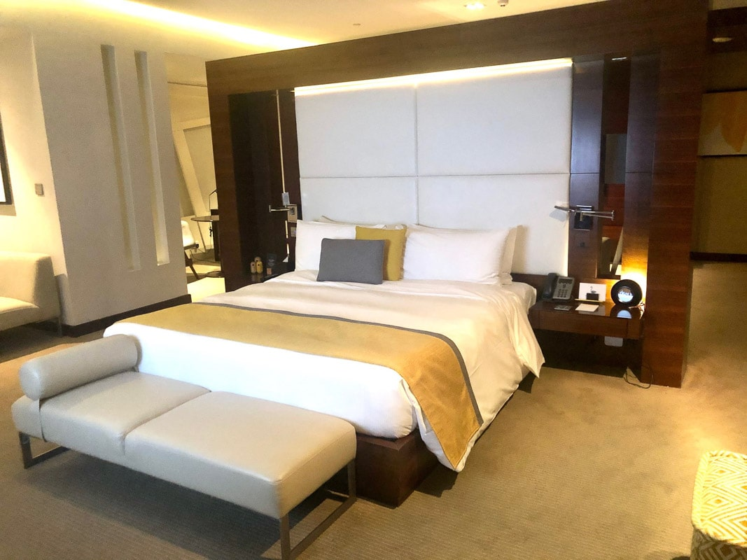 bedroom suite at Voco hotel Dubai