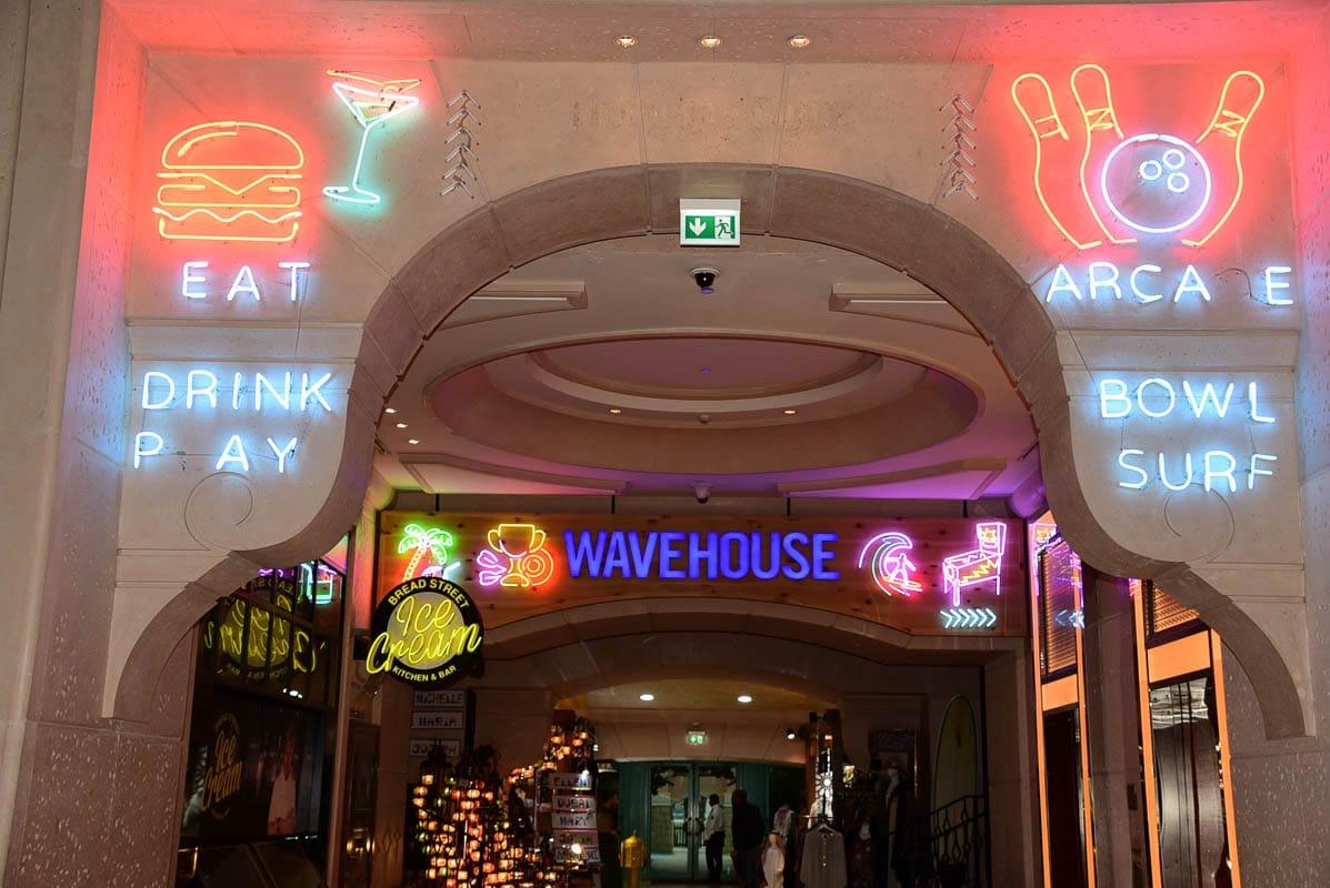 entrance to wave house at Palm Jumeirah Dubai