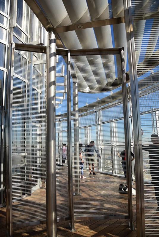 gates at top of burj khalifa dubai