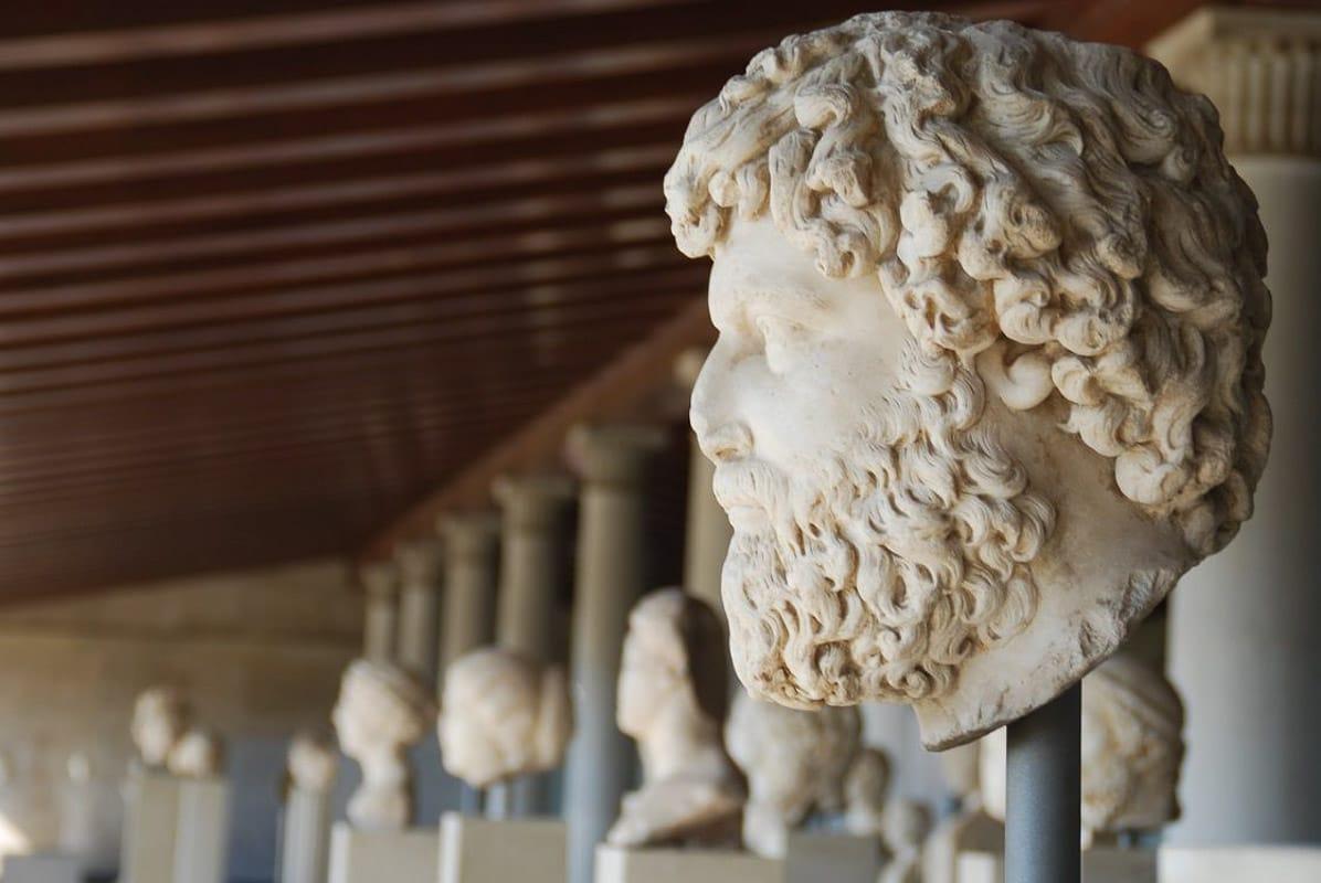 greek head sculpture