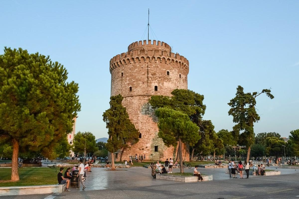 greece castle turret