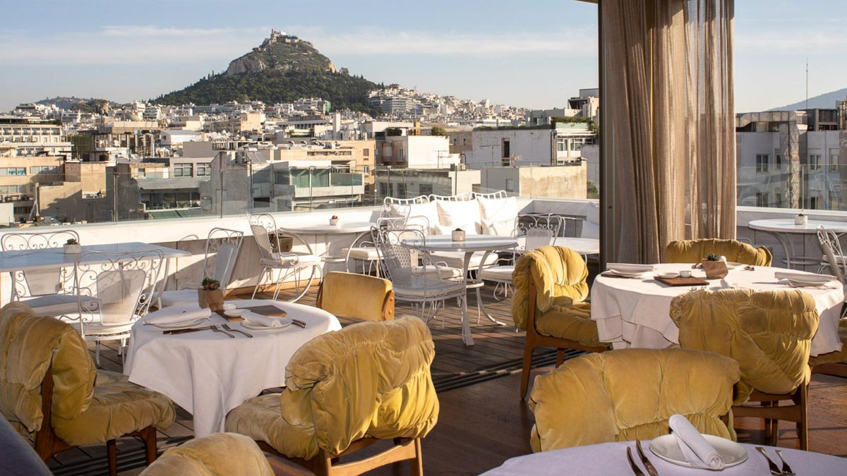 new hotel athens roof terrace