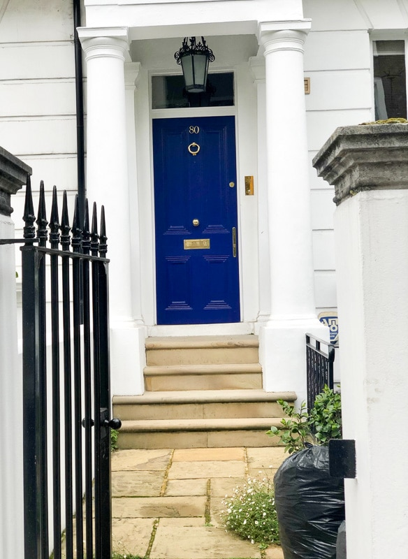 Notting Hill London blue front door