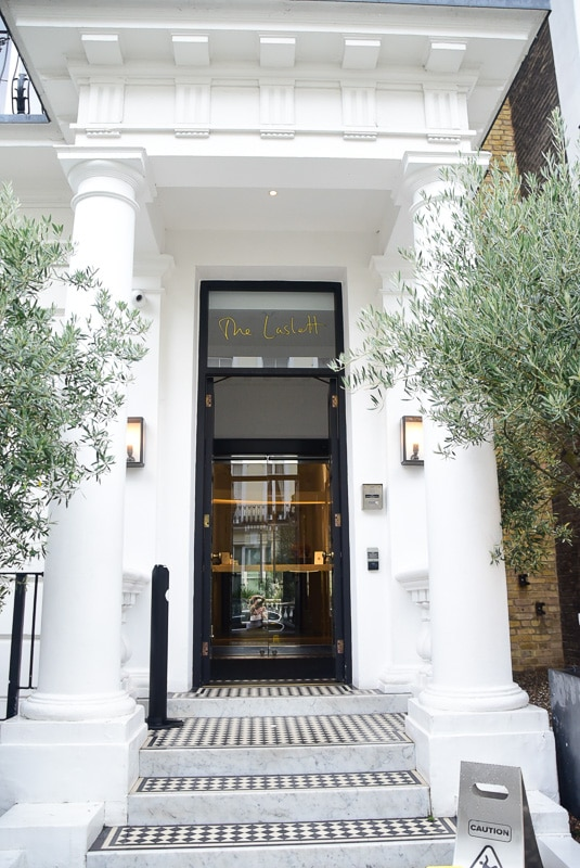 Notting Hill London entrance to the laslett hotel