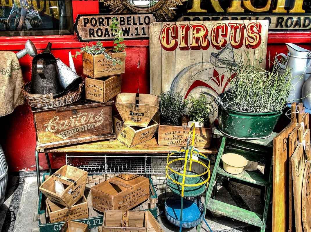 Notting Hill London portobello road antiques