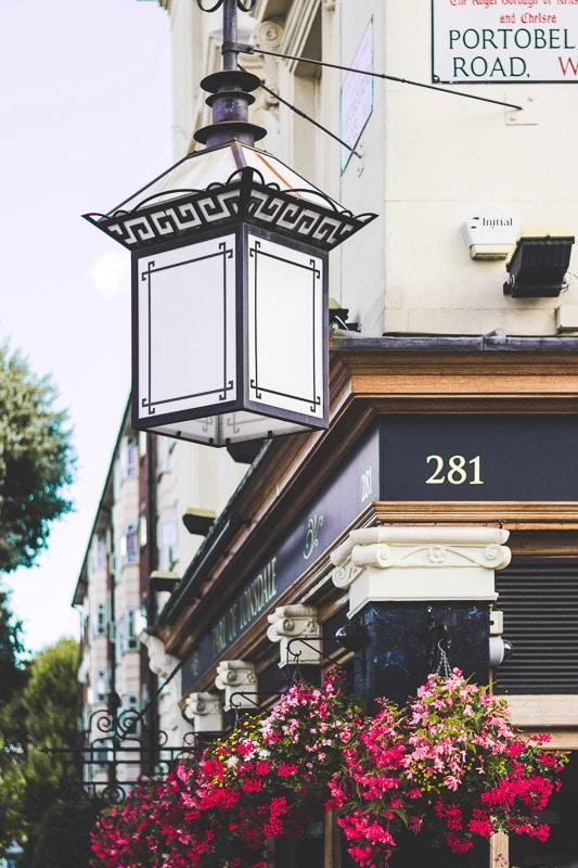 Notting Hill London street lamp