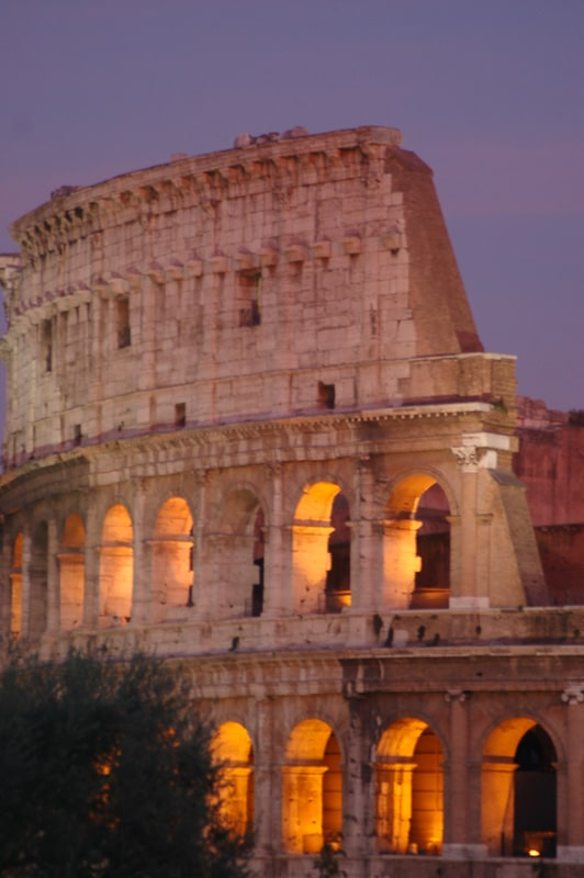 Rome Colosseum at Sunset 1