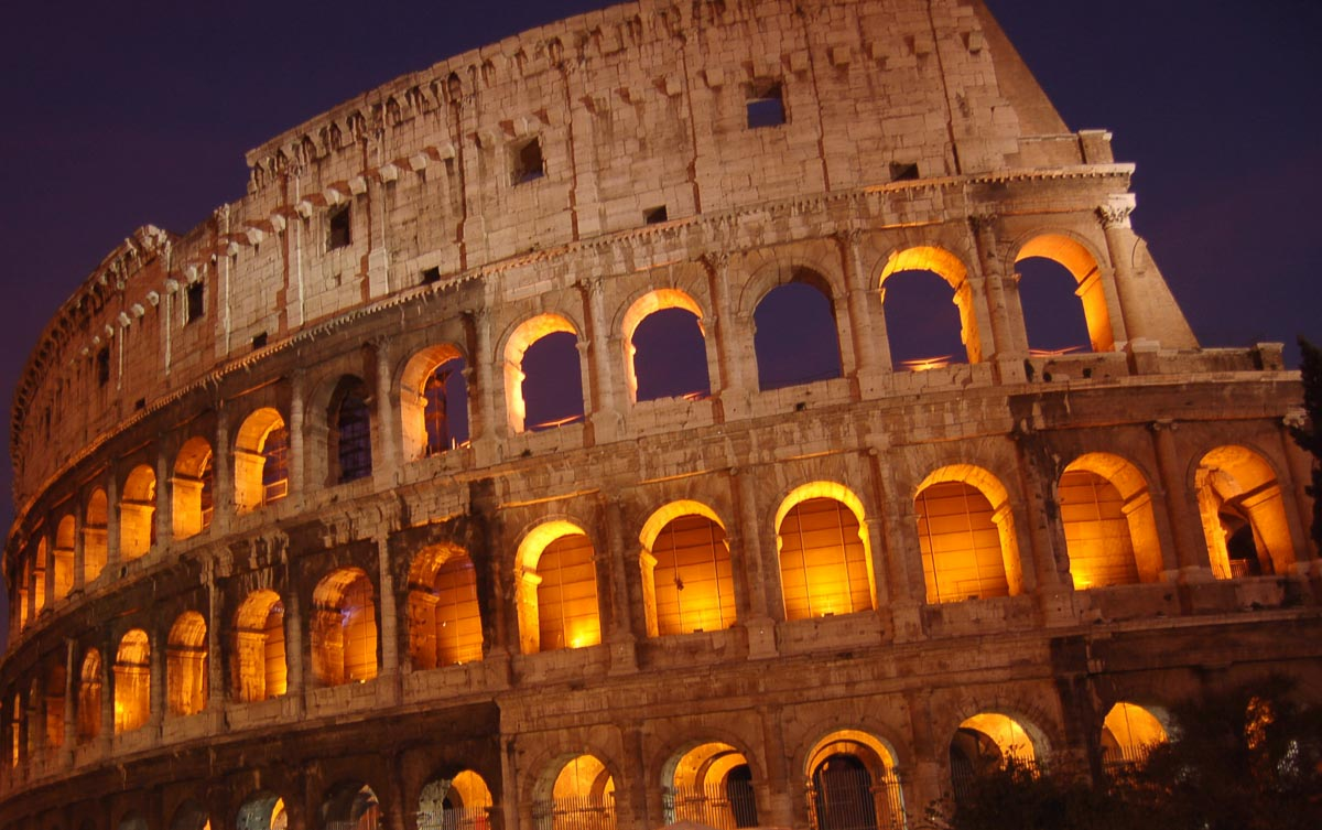 Rome Colosseum at Sunset 2