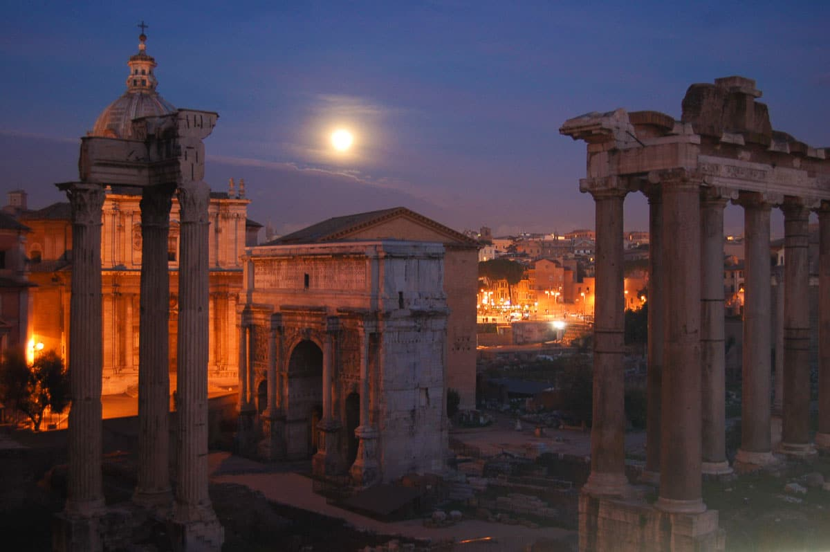 Rome - Forum at Sunset