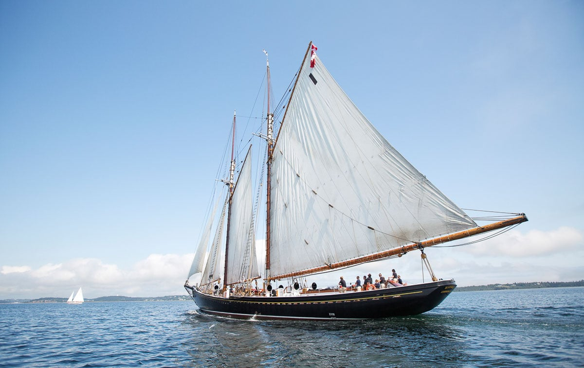The Bluenose II sails off the coast of Lunenburg South Shore (1)