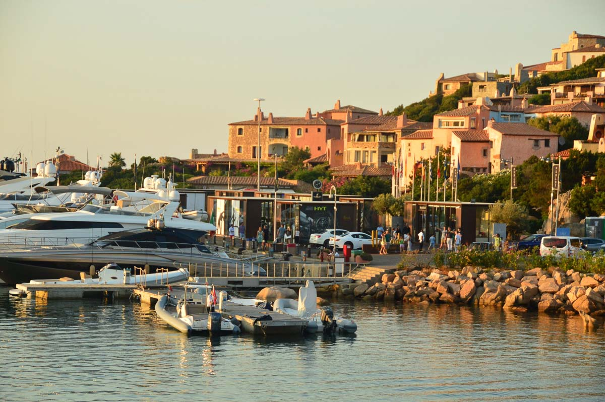 harbour in sardinia italy