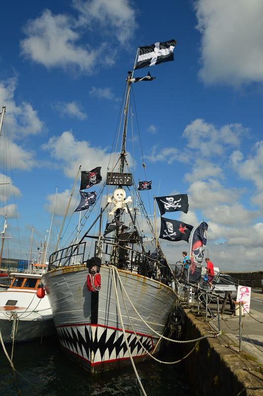 pirate ship in penzance cornwall