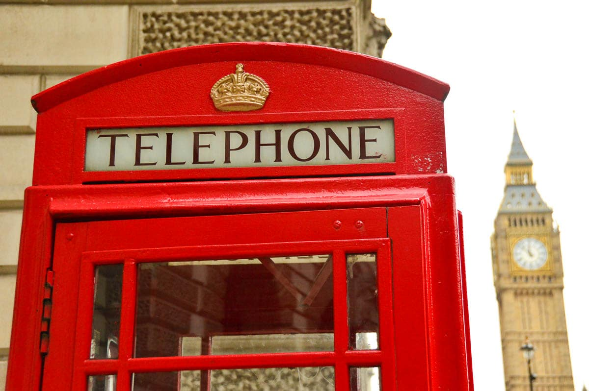 red telephone booth and big ben
