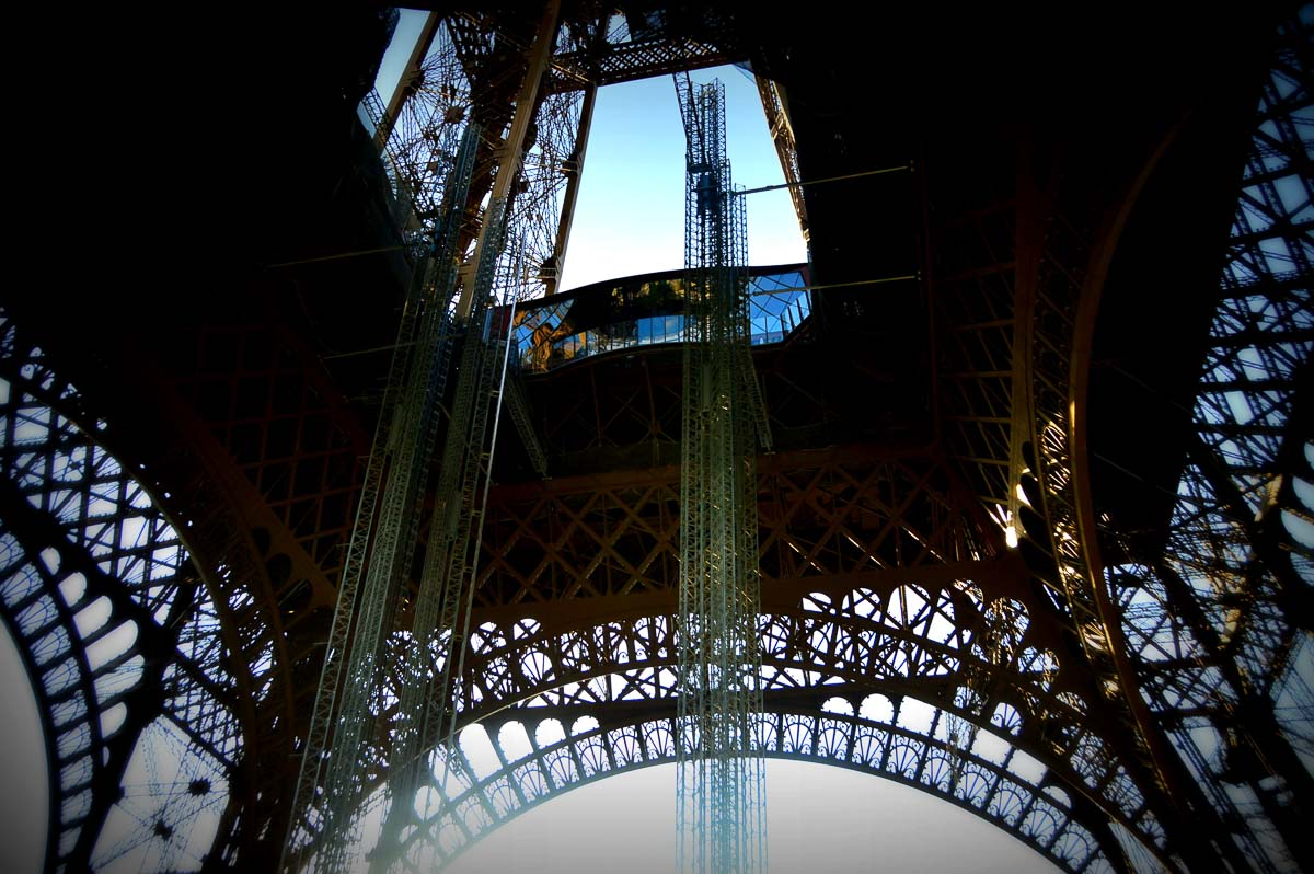 underneath the eiffel tower paris a famous monument in europe