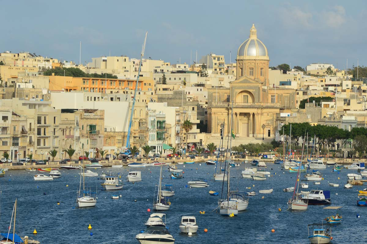 valletta harbour filled with boats