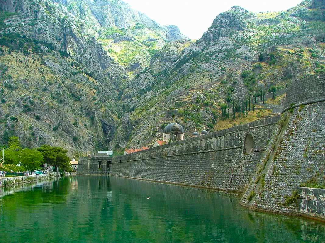 walls heading into kotor montenegro