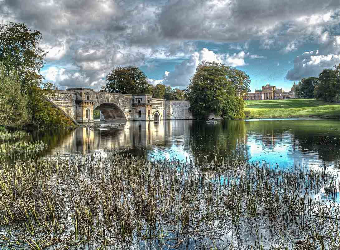 Bridge on the grounds of Blenheim Palace England