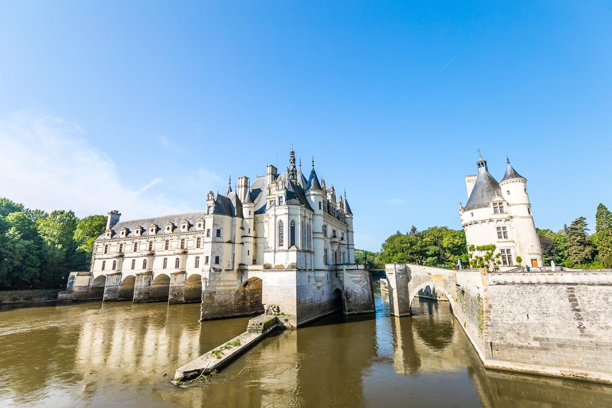 Chenonceau Castle and moat