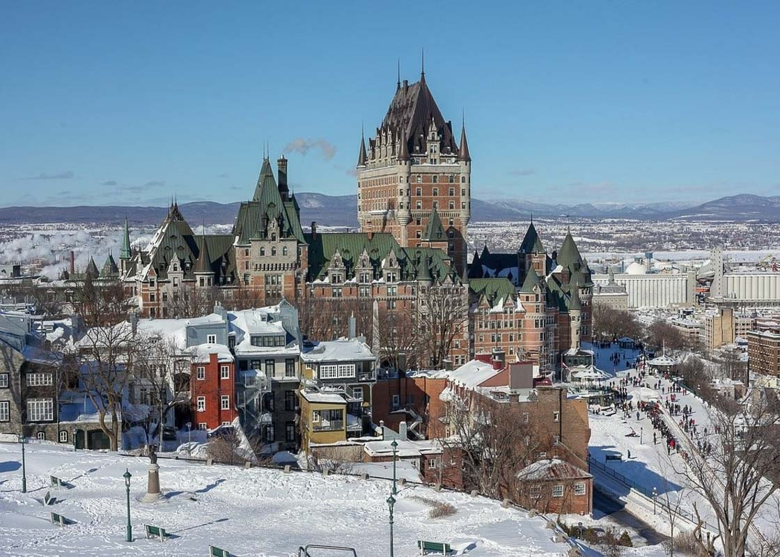 Fairmont Le Château Frontenac in the winter